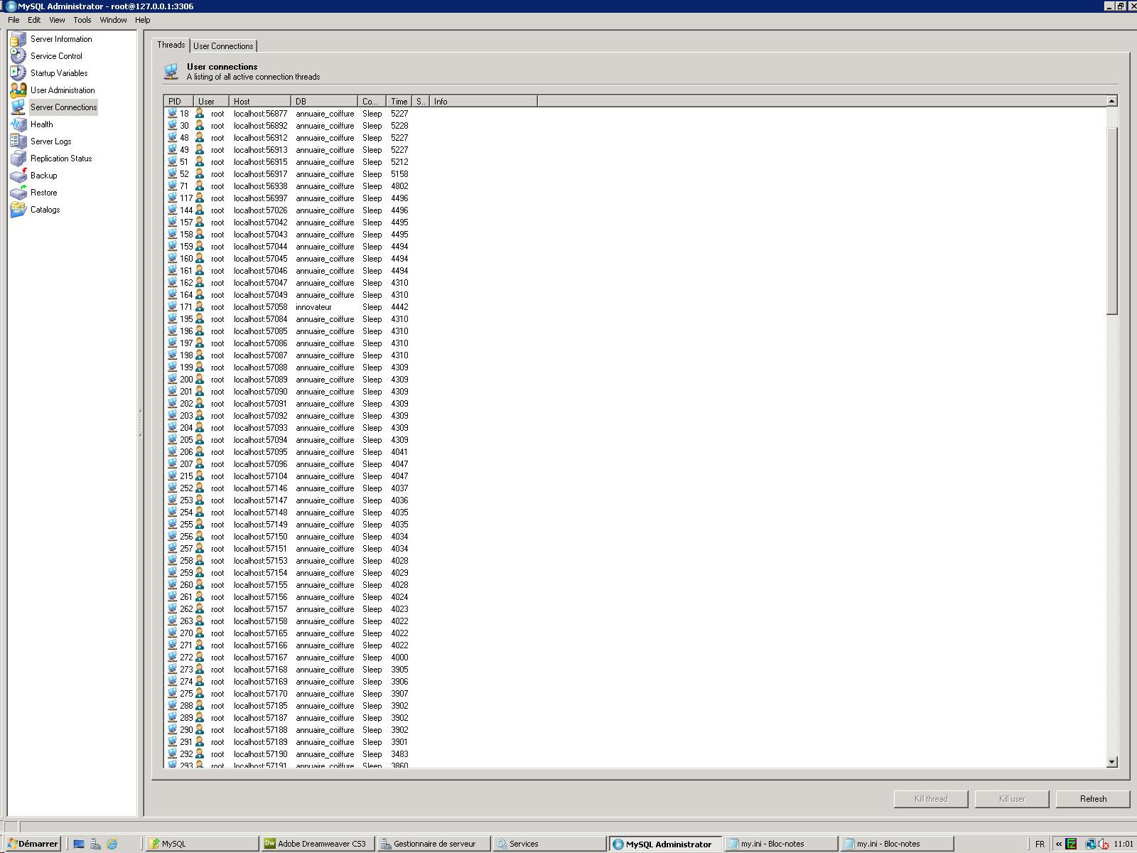 ERROR 42000 MySQL ODBC -Comunidad-nt Conductor Usted tiene un error en su sintaxis SQL; compruebe el manual